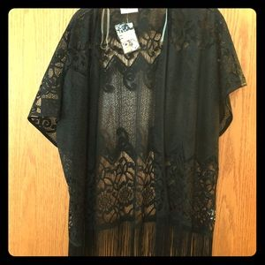 Lace cover up.